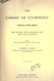 Cover of: The Christ | Cynewulf