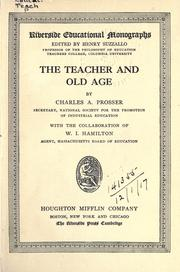 Cover of: The teacher and old age