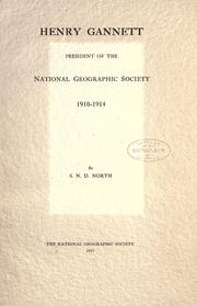 Cover of: Henry Gannett