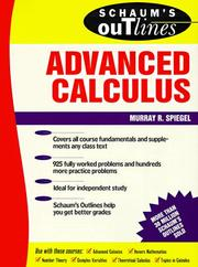 Cover of: Schaum's Outline of Advanced Calculus
