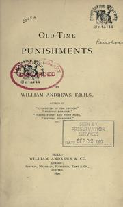 Cover of: Old-time punishments