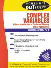Cover of: Schaum's Outline of Complex Variables