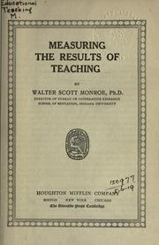 Cover of: Measuring the results of teaching