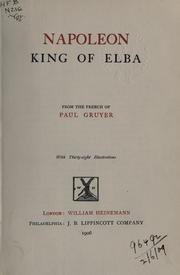 Napoleon, King of Elba by Paul Gruyer