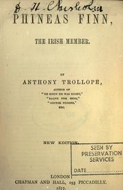 Phineas Finn, the Irish member by Anthony Trollope