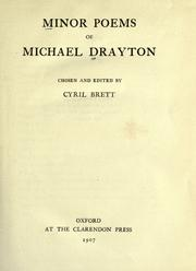 Cover of: Minor poems of Michael Drayton