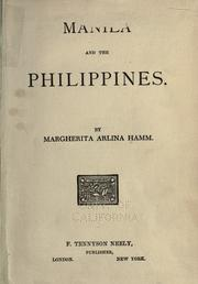 Cover of: Manila and the Philippines by Hamm, Margherita Arlina