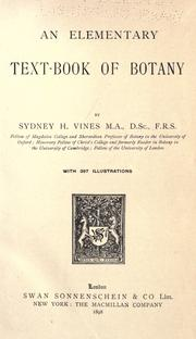 Cover of: An elementary text-book of botany