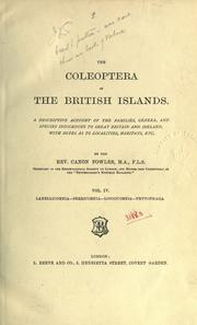 Cover of: The coleoptera of the British Islands
