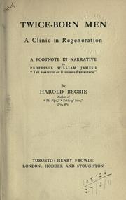 Cover of: Twice-born men, a clinic in regeneration