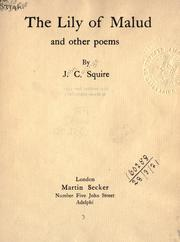Cover of: The lily of Malud and other poems