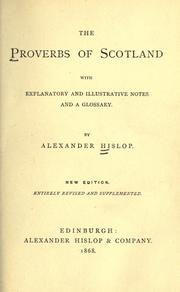 Cover of: The proverbs of Scotland