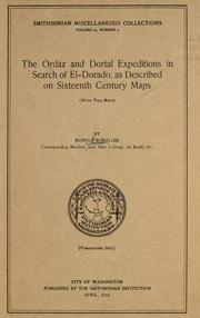 Cover of: The Ordáz and Dortal expeditions in search of Eldorado