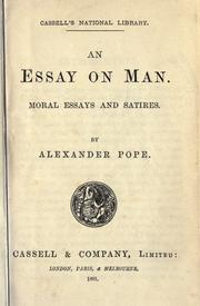 An essay on man 1891 edition open library