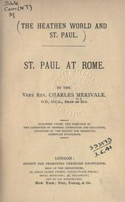 Cover of: St. Paul at Rome