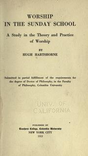 Cover of: Worship in the Sunday school