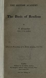 Cover of: The basis of realism