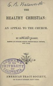 Cover of: The healthy Christian
