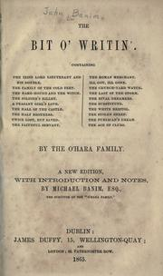 Cover of: The bit o' writin'