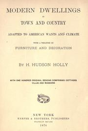 Cover of: Modern dwellings in town and country