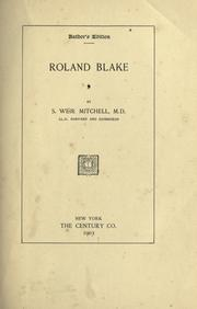 Cover of: Roland Blake