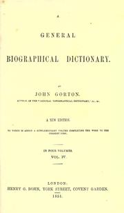 Cover of: A general biographical dictionary