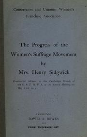 Cover of: The progress of the women's suffrage movement