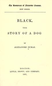 Cover of: Black: The story of a dog.
