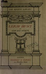 Cover of: Leigh Hunt: A Life in Letters - Together With Some Correspondence of William Hazlitt