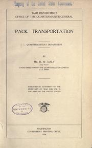 Cover of: Pack transportation by