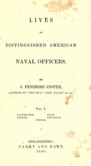 Cover of: Lives of distinguished American naval officers by James Fenimore Cooper