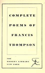 Cover of: Complete poems of Francis Thompson