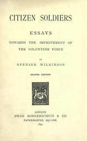 Cover of: Citizen soldiers essays