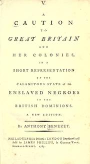 Cover of: A caution to Great Britain and her colonies