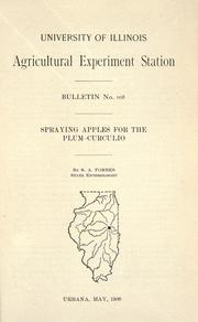 Cover of: Spraying apples for the plum-curculio