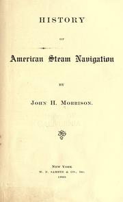 Cover of: History of American steam navigation