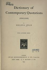 Cover of: Dictionary of contemporary of quotations (English) With authors index