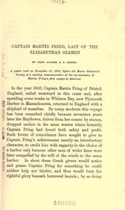 Cover of: Captain Martin Pring, last of the Elizabethan seamen