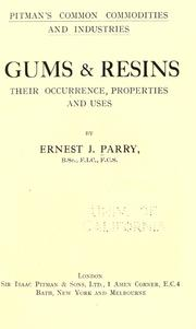 Cover of: Gums & resins
