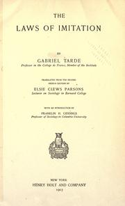Cover of: The laws of imitation by Gabriel de Tarde