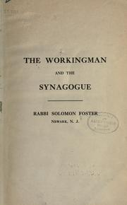 Cover of: The workingman and the synagogue