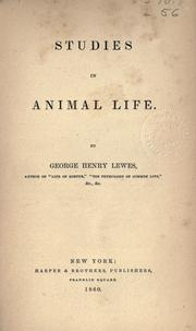 Cover of: Studies in animal life