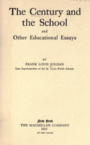 Cover of: The century and the school, and other educational essays