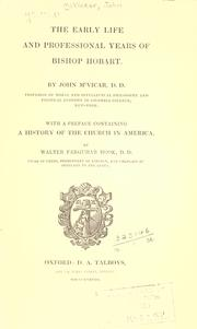 Cover of: The early life and professional years of Bishop Hobart