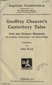 Geoffrey Chaucer's Canterbury tales
