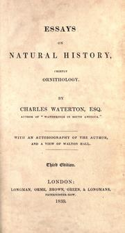 Cover of: Essays on natural history, chiefly ornithology