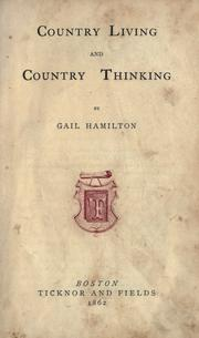 Cover of: Country living and country thinking