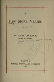 Cover of: A few more verses