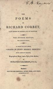 Cover of: The poems of Richard Crobet, late Bishop of Oxford and of Norwich