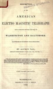 Cover of: Description of the American electro magnetic telegraph